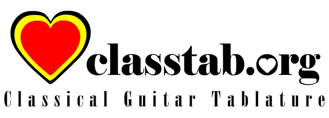 Classical Guitar Tablature